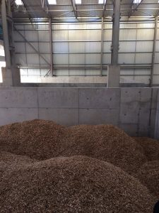 Locally sourced wood chips ready to be used to generate heat for our buildings!