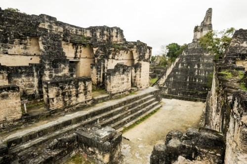 Mayan ruins in the city of Tikal