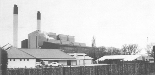 Figure 3. The Huntly Power Station as viewed from Waahi Marae. Source: Fookes, Expectations and Related Findings, p 4.