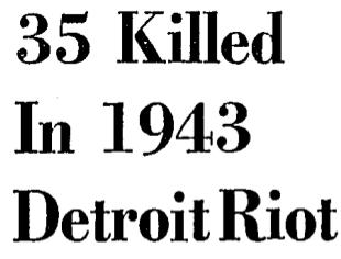 Bust – The Depopulation of Detroit (1960's