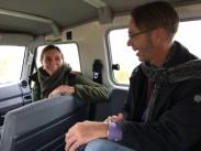 Sjoerd Kluiving in conversation with Susan Bonekamp, site manager of the Oostvaardersplassen.