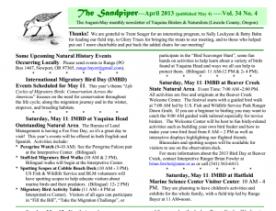 "IMBD event in Birders Newsletter, ""The sandpiper"""