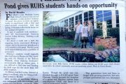 Pond gives RUHS students hands-on opportunity