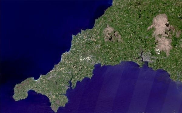Image result for reproduction photographique true-colour satellite image of cornwall, u
