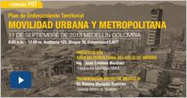 Mesa de trabajo. Plan de Ordenamiento Territorial. Movilidad urbana y metropolitana