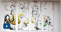 El Instituto Confucio inaugura mural que representa la cultura tradicional china