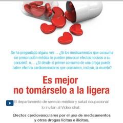 Video chat Efectos cardiovasculares por el uso de medicamentos y otras drogas lícitas e ilícitas