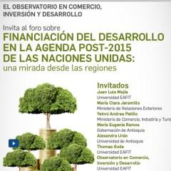 Foro sobre Financiación del Desarrollo en Agenda Post 2015