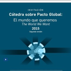 Cátedra sobre Pacto Global 2015. Modulo I
