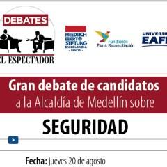 Gran debate de candidatos a la Alcaldía de Medellín