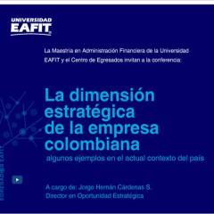La dimensión estratégica de la empresa colombiana