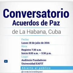 Conversatorio Acuerdos de paz de La Habana, Cuba