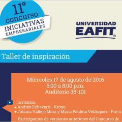 Taller de inspiración – XI Concurso de Iniciativas Empresariales