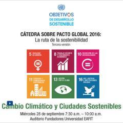 Cátedra Pacto Global.  Cambio climático y ciudades sostenibles