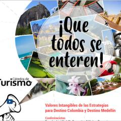 Valores intangibles de las estrategias para destino Colombia y destino Medellín