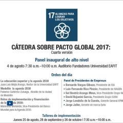 Cátedra sobre Pacto Global 2017. Cuarta edición Panel inaugural