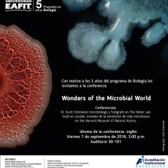 Wonders of the Microbial World. Hora de inicio: 15:00 p.m. Septiembre 7 de 2018