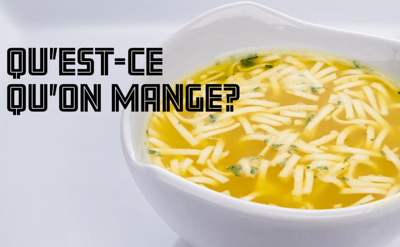Épisode 31 – Qu'est-ce qu'on mange?