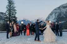 Angus Room Winter Wedding Fairmont Banff Springs Hotel