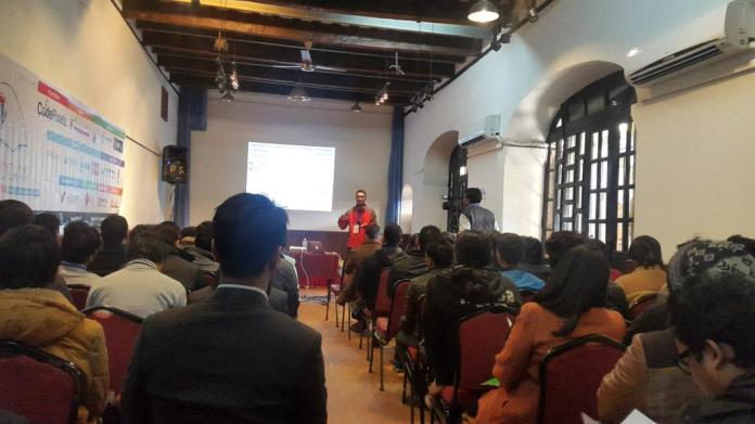 Manish Suwal Speaking and Presenting on WordCamp Nepal 2014