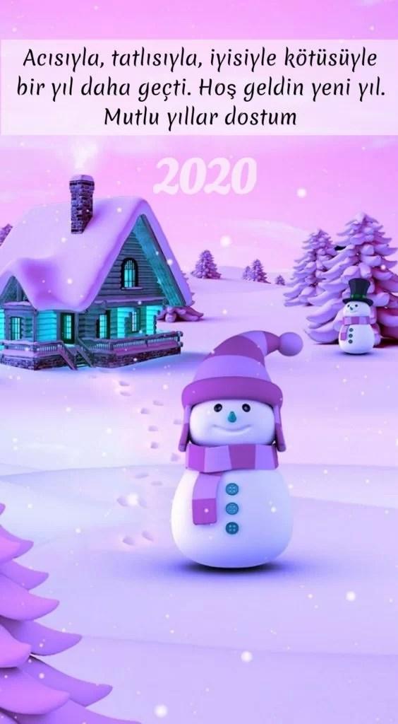 Acısıyla tatlısıyla iyisiyle kötüsüyle bir yıl daha geçti hoş geldin yeni yıl - 2020 Resimli Yeni Yıl Mesajları - 2020 Yeni Yıl Mesajları, guzel-sozler