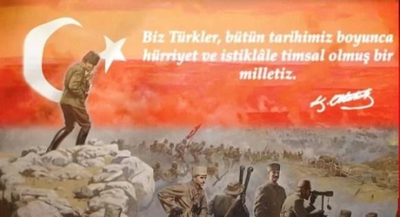 Biz Türkler bütün tarihimiz boyunca hürriyet ve istiklale timsal olmuş bir milletiz - Türk Ve Türkiye İle İlgili Resimli Sözler - Türk Ve Türkiye ile ilgili sözler, guzel-sozler