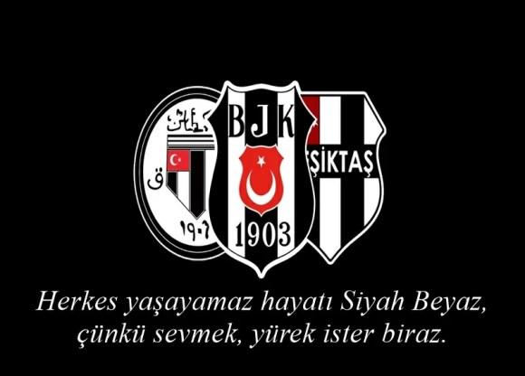Herkes yaşayamaz hayatı Siyah Beyaz çünkü sevmek yürek ister biraz - Beşiktaş İle İlgili Resimli Sözler - Beşiktaş Sözleri Ve Kareografileri, resimli-sozler
