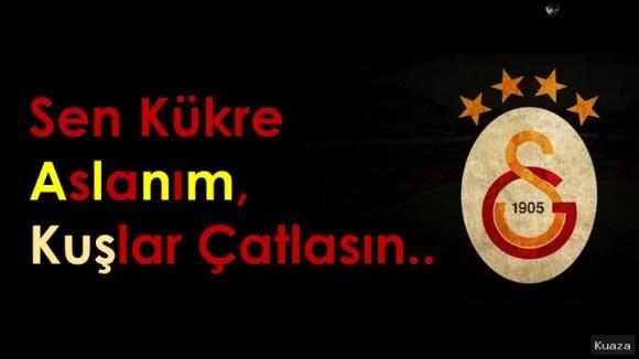Sen kükre aslanım kuşlar çatlasın - Galatasaray İle İlgili Resimli Sözler - Galatasaray Sözleri Ve Kareografileri, resimli-sozler