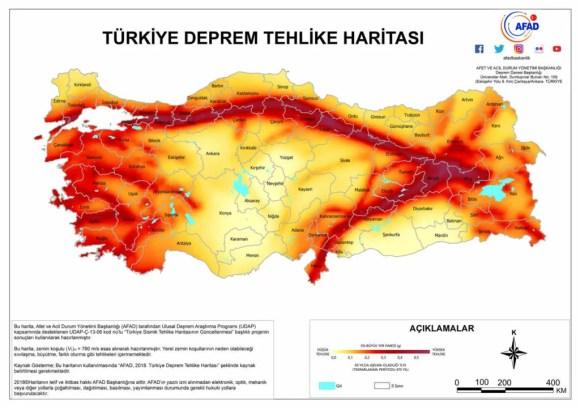 Türkiye deprem tehlike haritası 1024x724 - Deprem İle İlgili Sözler - Deprem Sözleri, Acı Sözler, Üzgün Anlar, guzel-mesajlar, anlamli-sozler