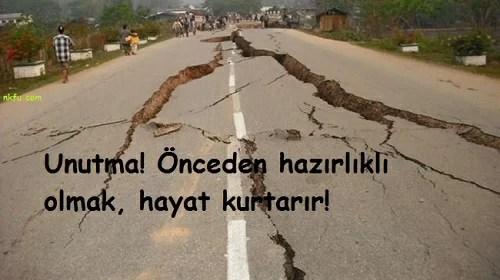 Unutmaönceden hazırlıklı olmak hayat kurtarır - Deprem İle İlgili Sözler - Deprem Sözleri, Acı Sözler, Üzgün Anlar, guzel-mesajlar, anlamli-sozler