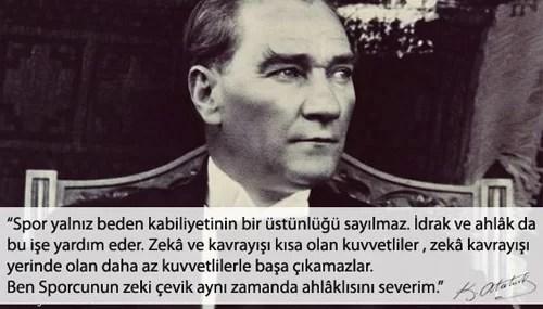 Ben sporcunun zeki çevik aynı zamanda ahlaklısını severim. Mustafa Kemal Atatürk - Mustafa Kemal Atatürk Resimli Sözler - Atatürk Sözleri Ve Fotoğraf Arşivi, unlu-sozleri, guzel-sozler