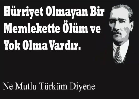 Hürriyet olmayan bir memlekette ölüm ve yok olma vardır. Mustafa Kemal Atatürk - Mustafa Kemal Atatürk Resimli Sözler - Atatürk Sözleri Ve Fotoğraf Arşivi, unlu-sozleri, guzel-sozler