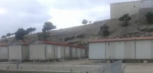 Τμήμα του οικισμού μετεγκατάστασης των Ρομά Χαλανδρίου στο όρος Πατέρα στα Μέγαρα
