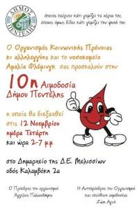 10η Αιμοδοσία Δήμου Πεντέλης