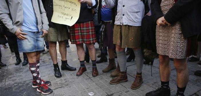 Τουρκία: Άντρες φόρεσαν φούστες και είπαν «όχι» στη βία κατά των γυναικών