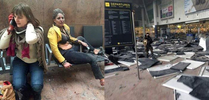 Αιματηρή διπλή έκρηξη στο αεροδρόμιο των Βρυξελλών, έκρηξη και στο μετρό