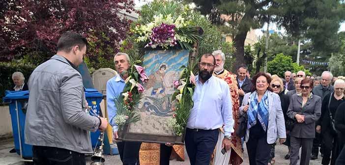 Πλήθος πιστών στον εορτασμό του Αγ.Γεωργίου στην Αγ. Φιλοθέη
