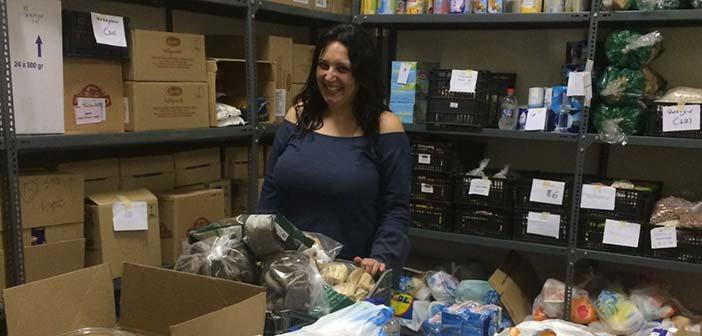 Η Άννα Ασπραδάκη ευχαριστεί όσους στηρίζουν το Κοινωνικό Παντοπωλείο