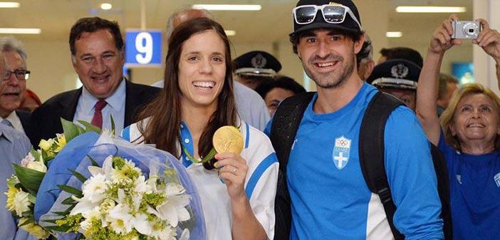 «Πάτησε» Ελλάδα η Ολυμπιονίκης Κατερίνα Στεφανίδη