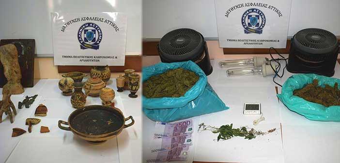 Σύλληψη για αρχαιοκαπηλία και ναρκωτικά στου Παπάγου