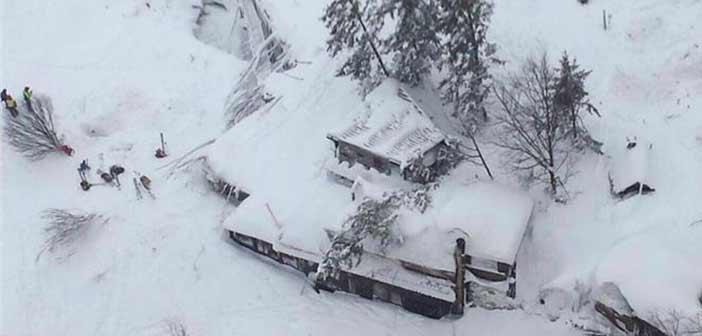 Ιταλία: Παγίδα θανάτου ξενοδοχείο που θάφτηκε στο χιόνι μετά τον σεισμό