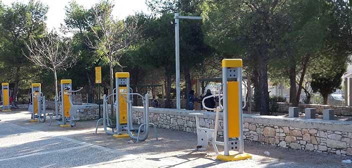 Υπαίθρια όργανα γυμναστικής τοποθετήθηκαν στον Δήμο Βριλησσίων