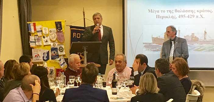 Σε εκδήλωση για την ελληνική ναυτιλία ο δήμαρχος Αμαρουσίου