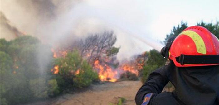 Yπό μερικό έλεγχο η πυρκαγιά στα Περιβόλια Ηλείας
