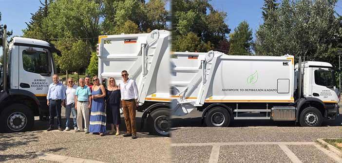 Δύο νέα απορριμματοφόρα στην υπηρεσία Καθαριότητας του Δήμου Παπάγου – Χολαργού