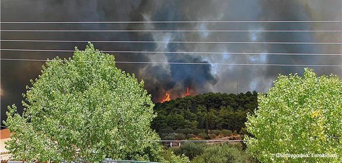 Πύρινη πολιορκία: Κάτοικοι και πυροσβέστες υπερασπίστηκαν τις Μαριές