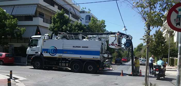 Εργασίες καθαρισμού – απόφραξης φρεατίων πραγματοποιήθηκαν στα Βριλήσσια