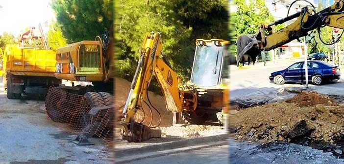 Συνεχίζονται τα έργα ομβρίων στον Δήμο Αγίας Παρασκευής