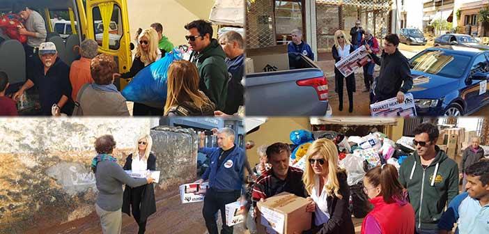 Ανθρωπιστική βοήθεια στον Δήμο Μάνδρας – Ειδυλλίας από τον Όμιλο UNESCO Β.Π.