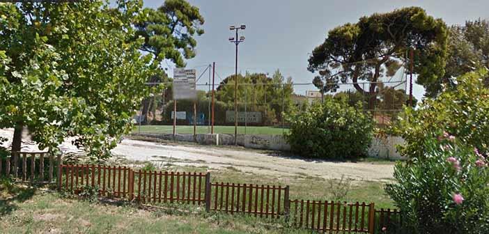 Αγιασμός πραγματοποιήθηκε στο γήπεδο ποδοσφαίρου 5×5 στην Πεντέλη